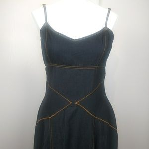Boston Proper linen blend denim dress size 6